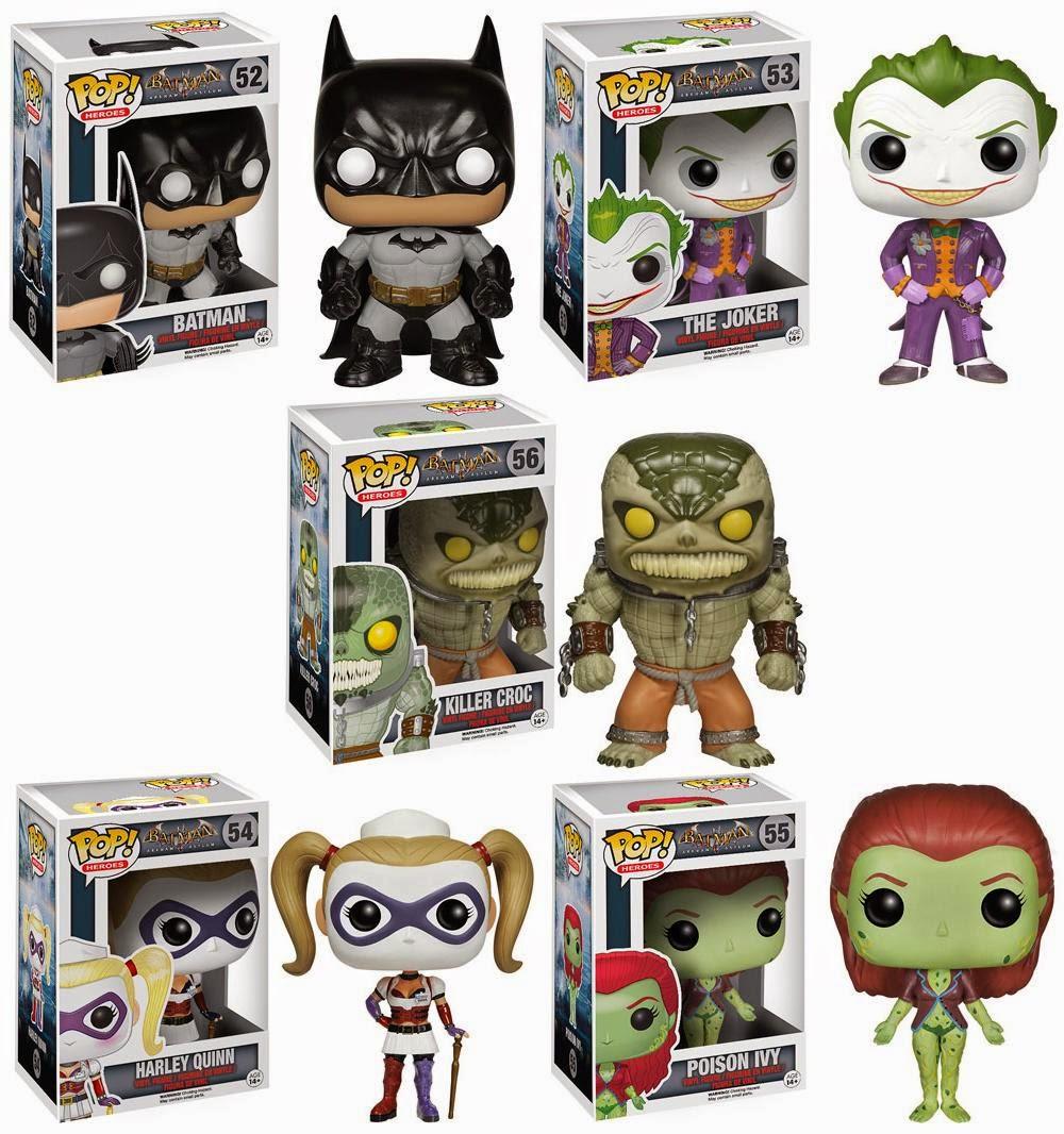 Batman: Arkham Asylum Pop! Vinyl Figures by Funko - Batman, The Joker, Killer Croc, Harley Quinn & Poison Ivy