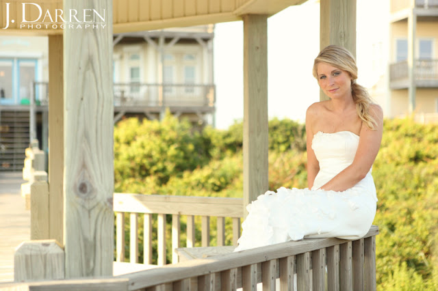 photo of North Carolina Beach wedding bridal portraits