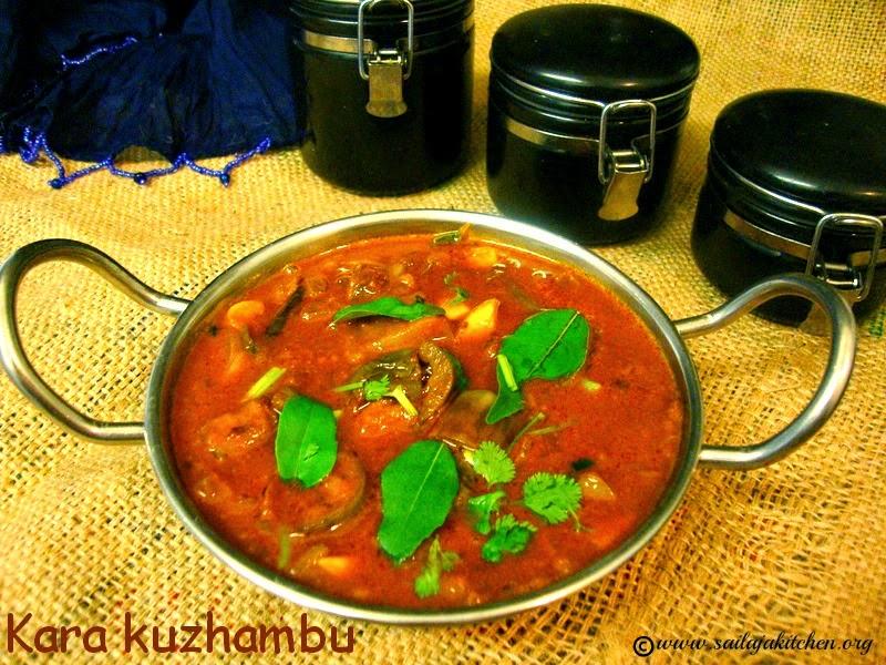 images for Kathirikai Kara Kuzhambu / Spicy Brinjal Curry / Easy Kara Kuzhambu / Puli kuzhambu Recipe