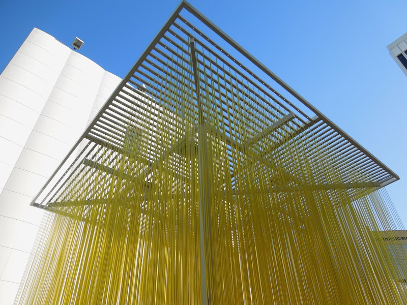 Penetrable in Neon Lime installation LACMA