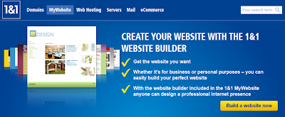 Create Website with 1&1 website builder