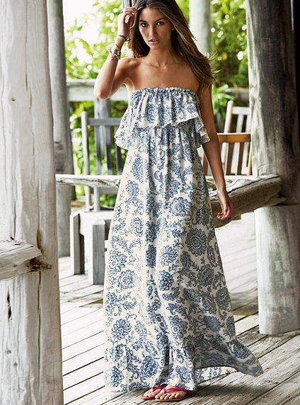 summer long dresses 2012 ruffled summer maxi long dress 2012. Black Bedroom Furniture Sets. Home Design Ideas