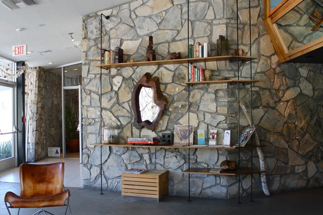 The Shelving In The Lobby Of The Iconic Ace Hotel In Palm Springs That