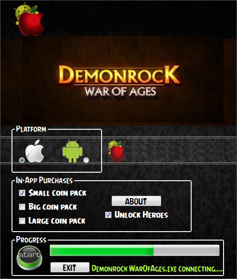 Demonrock War of Ages Hack & Cheat