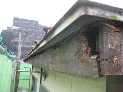 東京都府中市 屋根修理 軒天 破風板 雨樋 設置 工事 雨樋カバー撤去