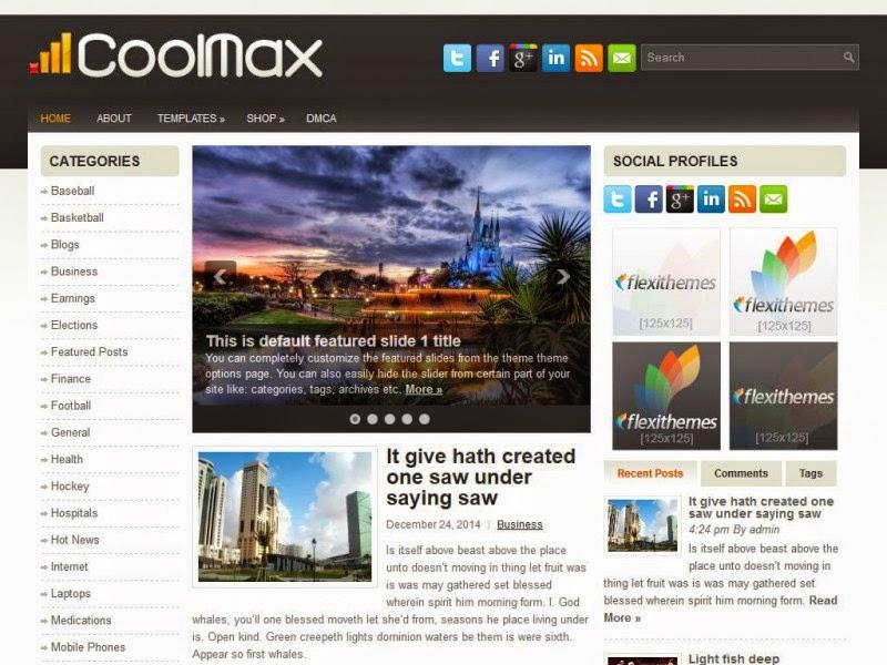 CoolMax - Free Wordpress Theme
