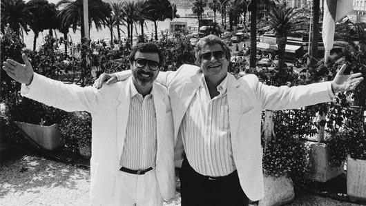 Yoram Globus y Menahem Golan en el Festival de Cannes