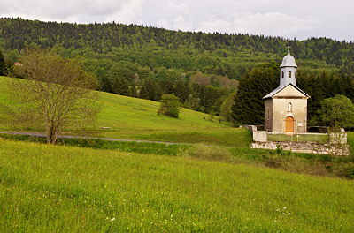 Picture of Sainte Anne chapel in Belleydoux