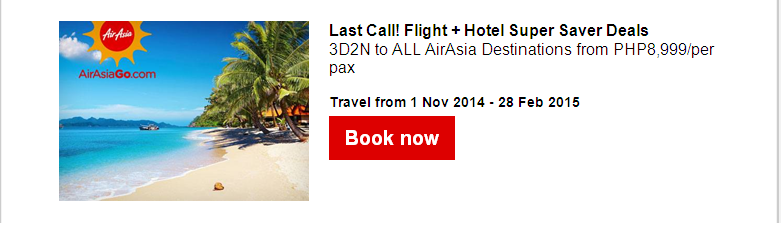 Air Asia: Spooktacular low fares from PHP399!