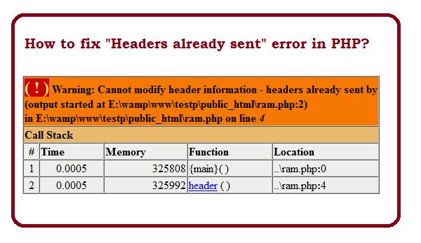 Возникает предупреждение warning: cannot modify header information - headers already sent