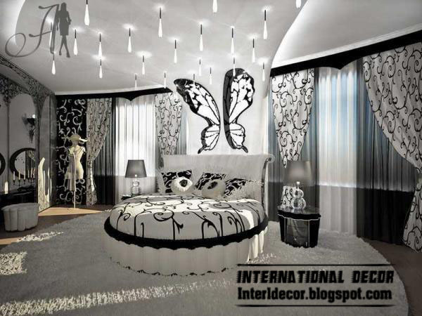 black and white bedrooms designs  paint  furniture  accessories. Interior Design 2014  black and white bedrooms designs  paint