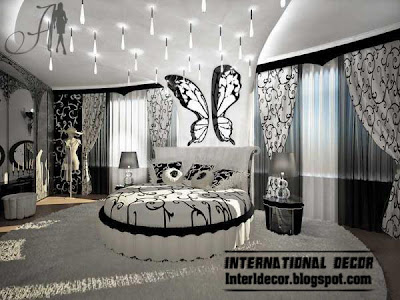 romantioc bedroom decorations in black and white paint colors furniture black and white bedrooms designs, paint, furniture, accessories