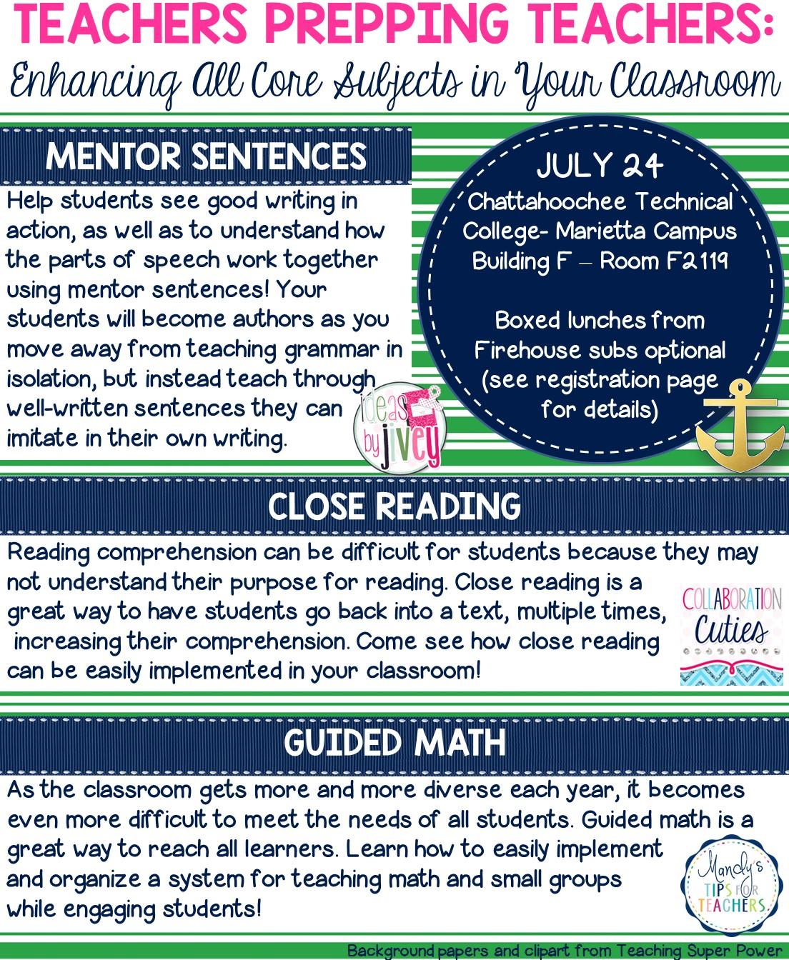 Teachers Prepping Teachers Workshop - Mandy\'s Tips for Teachers