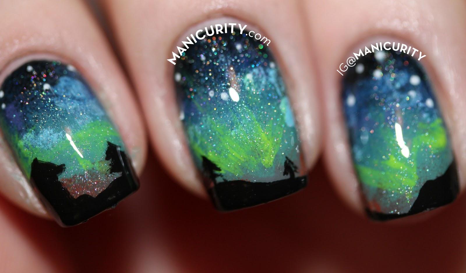 The Digit-al Dozen: Aurora Borealis Nail Art - The Northern Lights Nails | Manicurity.com