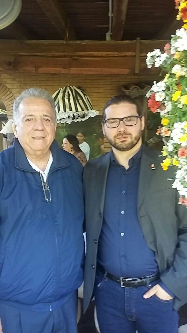 Luca Bagatin con l'Ambasciatore del Venezuela in Italia Julián Isaías Rodríguez Diaz (marzo 2016)