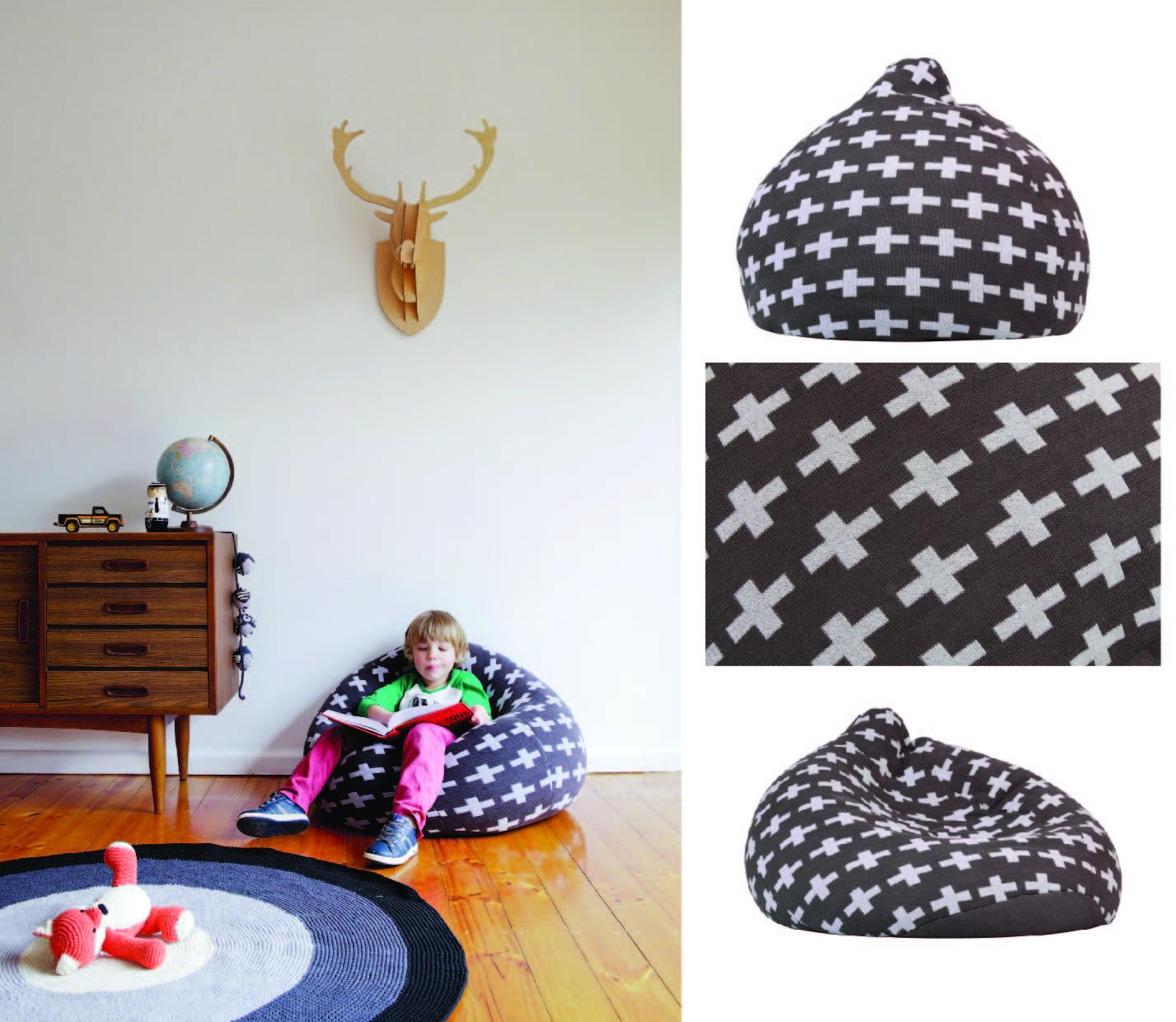 La De Dah Kids: Beautiful knitted bean bags