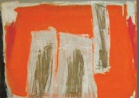 Abstracto en naranjas y ocres