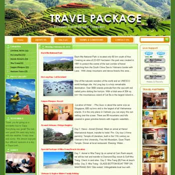 Travel Package blogger template. template travel for blogger