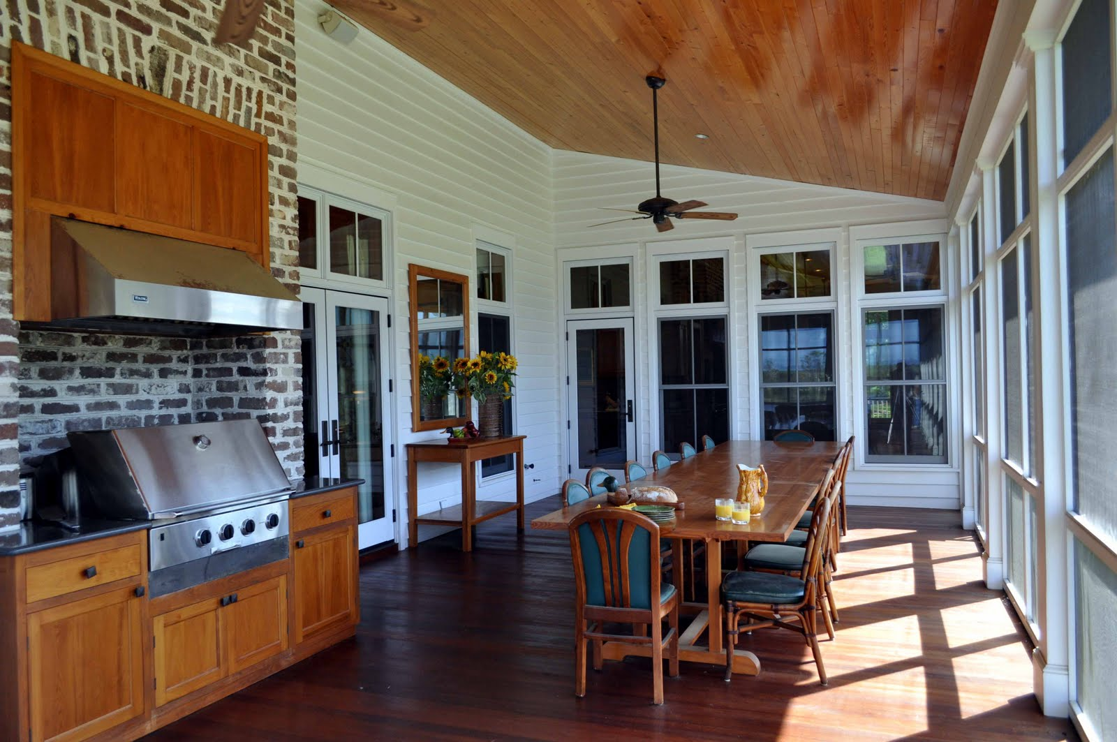 B e interiors low country style for Exterior grill design
