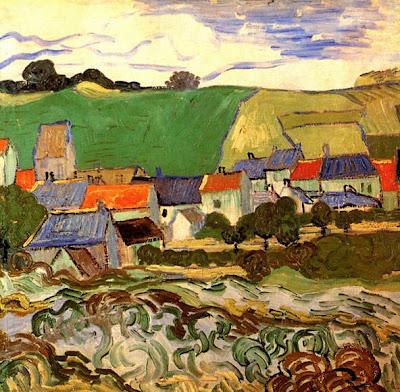 Vincent Van Gogh - vue d'Auvers,1890.