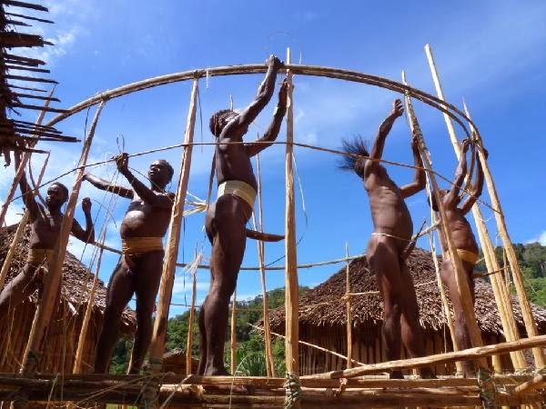 Cara Membuat Arsitektur Rumah Adat Papua - Honai