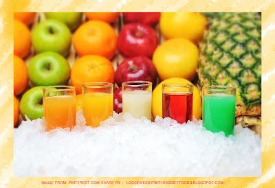 น้ำผลไม้สดอาหารสำหรับคนลดน้ำหนัก