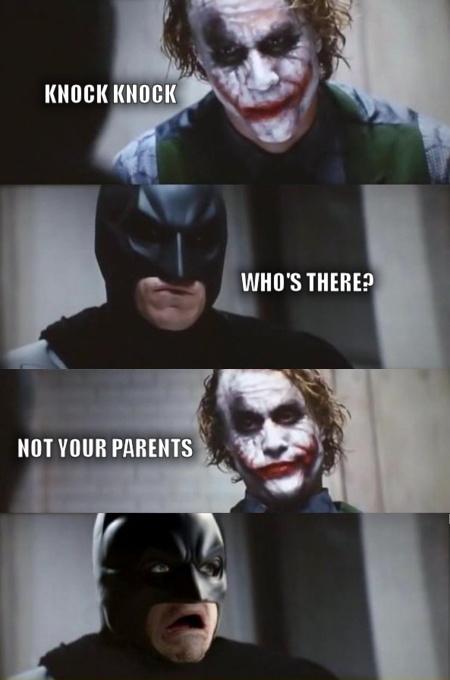 Joker - Batman - Knock Knock - Who's There