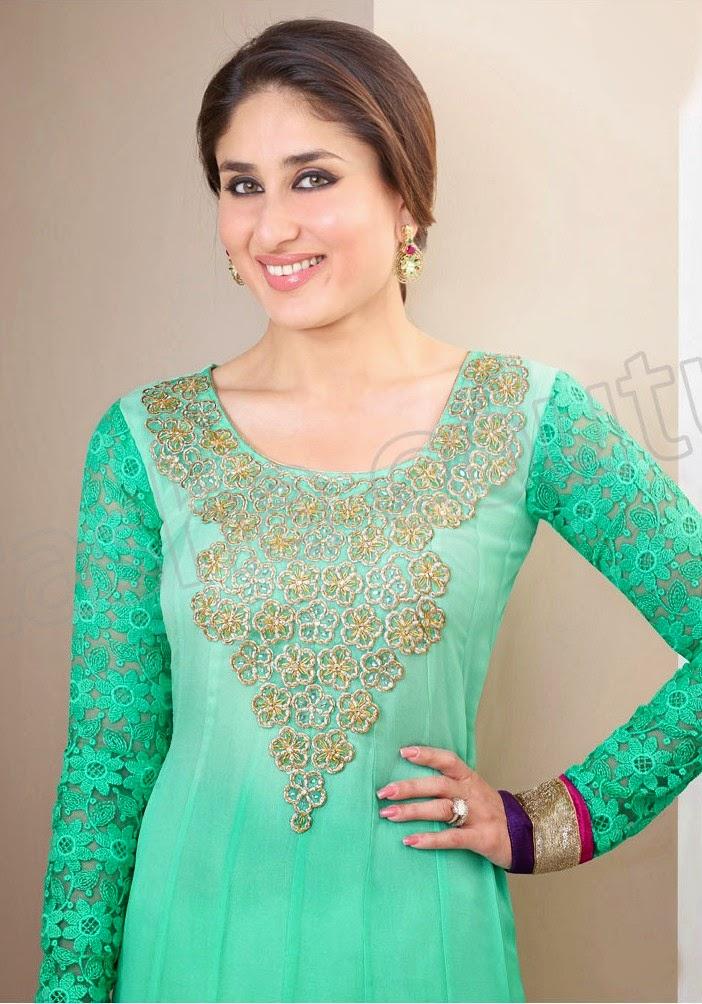 KareenaKapoorSemiGeorgetteSalwarSuits2014 15 wwwfashionhuntworldblogspotcom 005 - Kareena Kapoor Semi Georgette Salwar Suits 2014-2015
