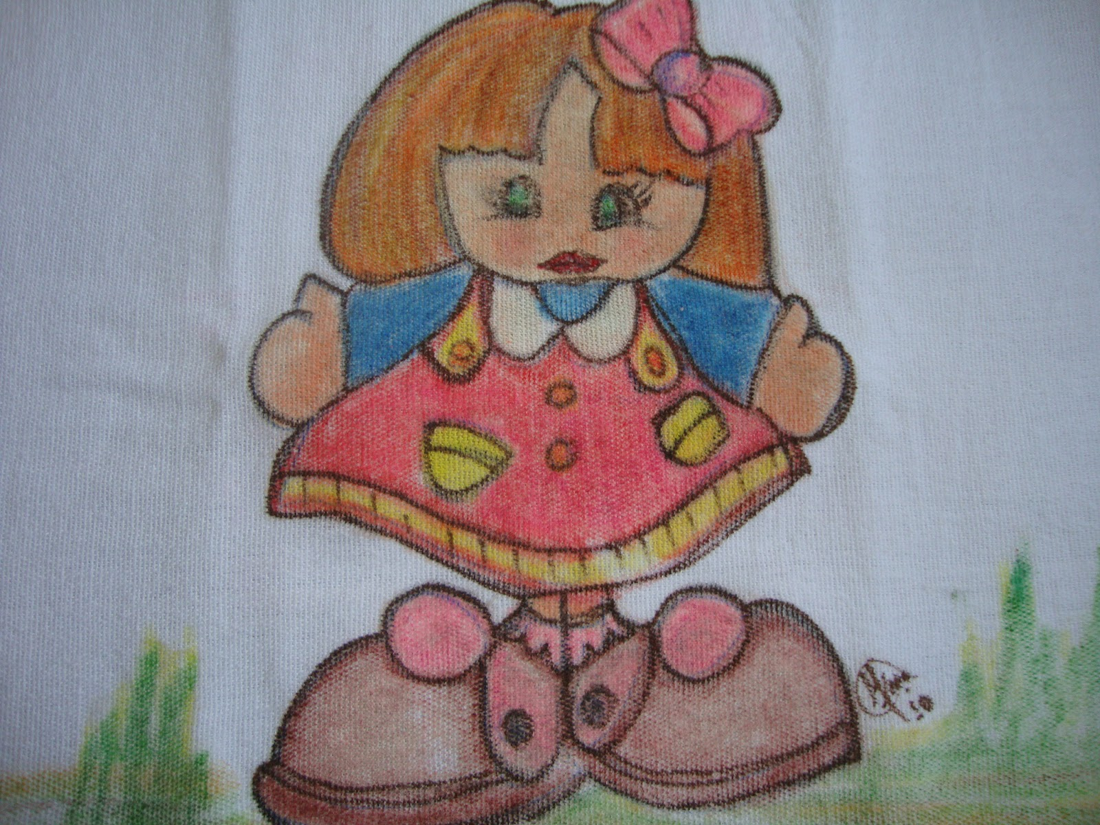 Preferência ANALAICE: Pintura com giz de cera em tecido PI45