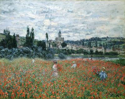 Claude Monet -Champs de coquelicots près de Vétheuil