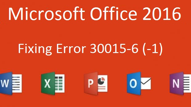 Error 30015-6 (-1) While Installing MS Office 2016