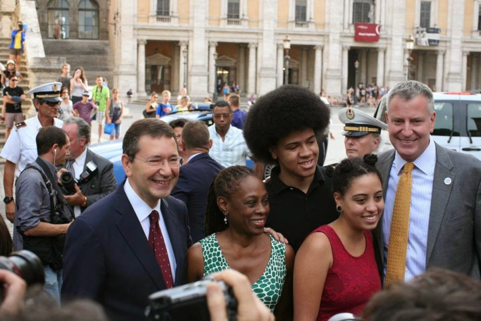 DeBlasio Family Arrives in Rome for Eight Day Holiday