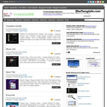 Magazine V1 blogger template. free blogspot template