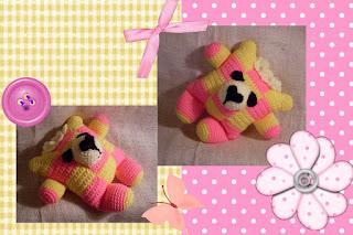 cutie crochet amigurumi patchwork bear pattern