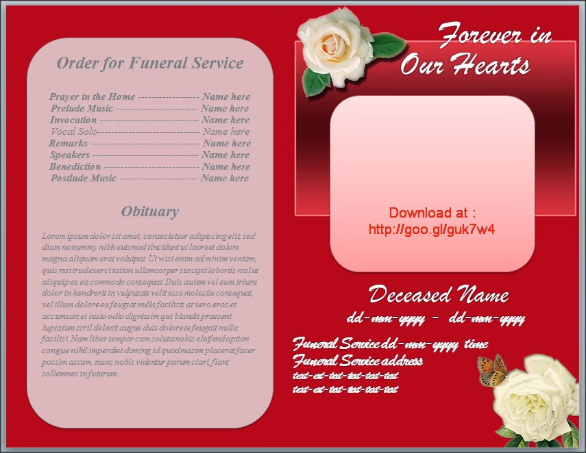 Doc621480 Sample Obituary Program Funeral Program Examples – Funeral Service Templates Word