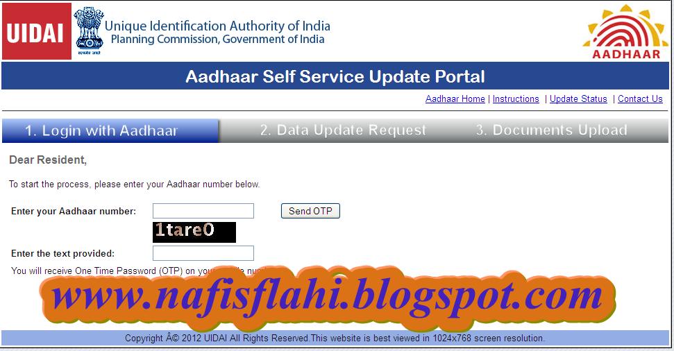 aadhar update