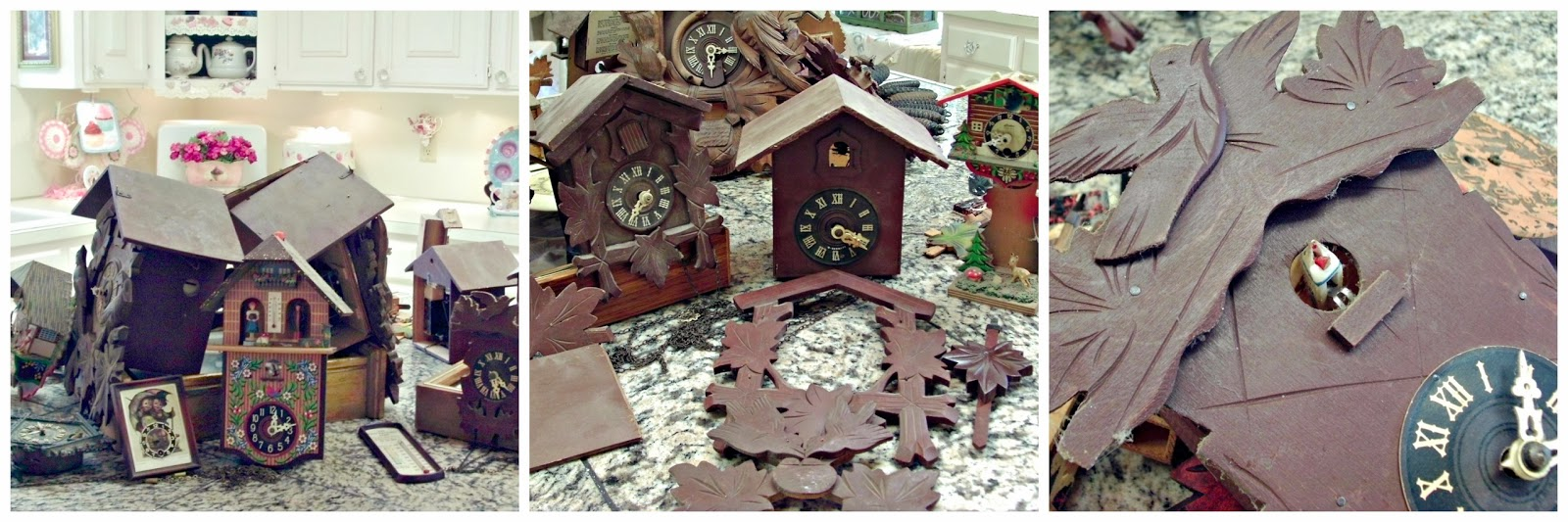 Here Are A Few Photos From The Post I Did Last Summer When We Bought All  These Clocks...there Was About 15 Of Them. Most Will Be Left In The  Original ...