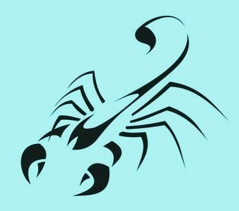 Diseño Tatuaje tribal signo Escorpión 04