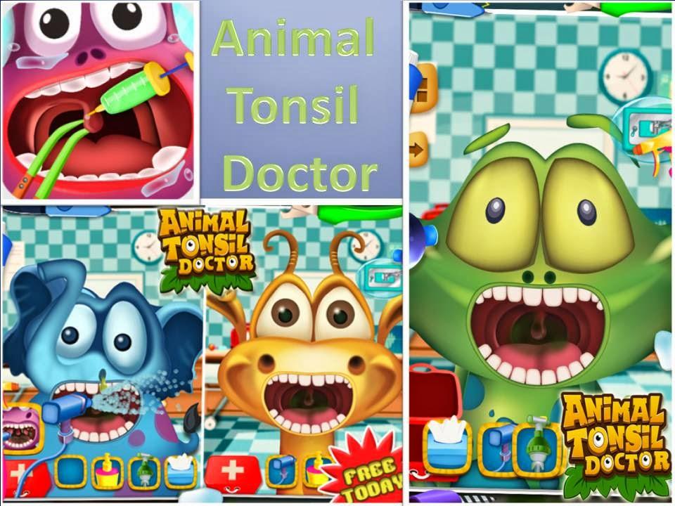 animal tonsil doctor - free kids game