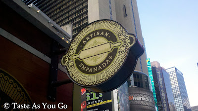 Nuchas in Times Square in New York, NY - Photo by Michelle Judd of Taste As You Go