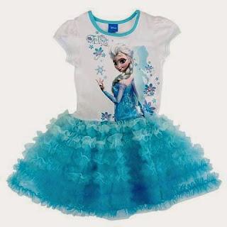 Dress tutu frozen elsa