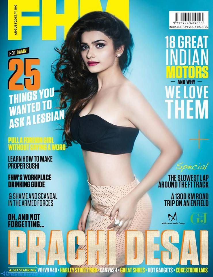 Prachi Desai on FHM India Magazine August 2013 - CineDen