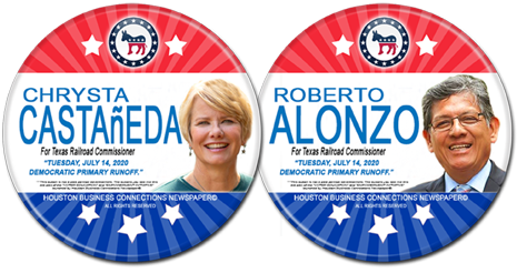 Chrysta Castaneda and Roberto Alonzo are the Democratic Runoff Candidates for RR Commissioner