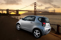 2012 Scion iQ by the Golden Gate Bridge - Subcompact Culture