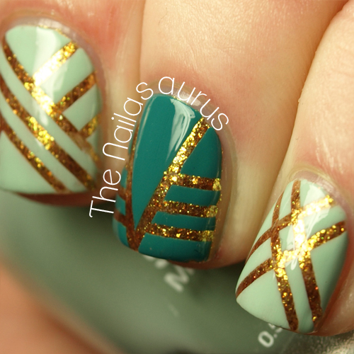 Nail Designs With Striping Tape: Confessing My Love - The Nailasaurus