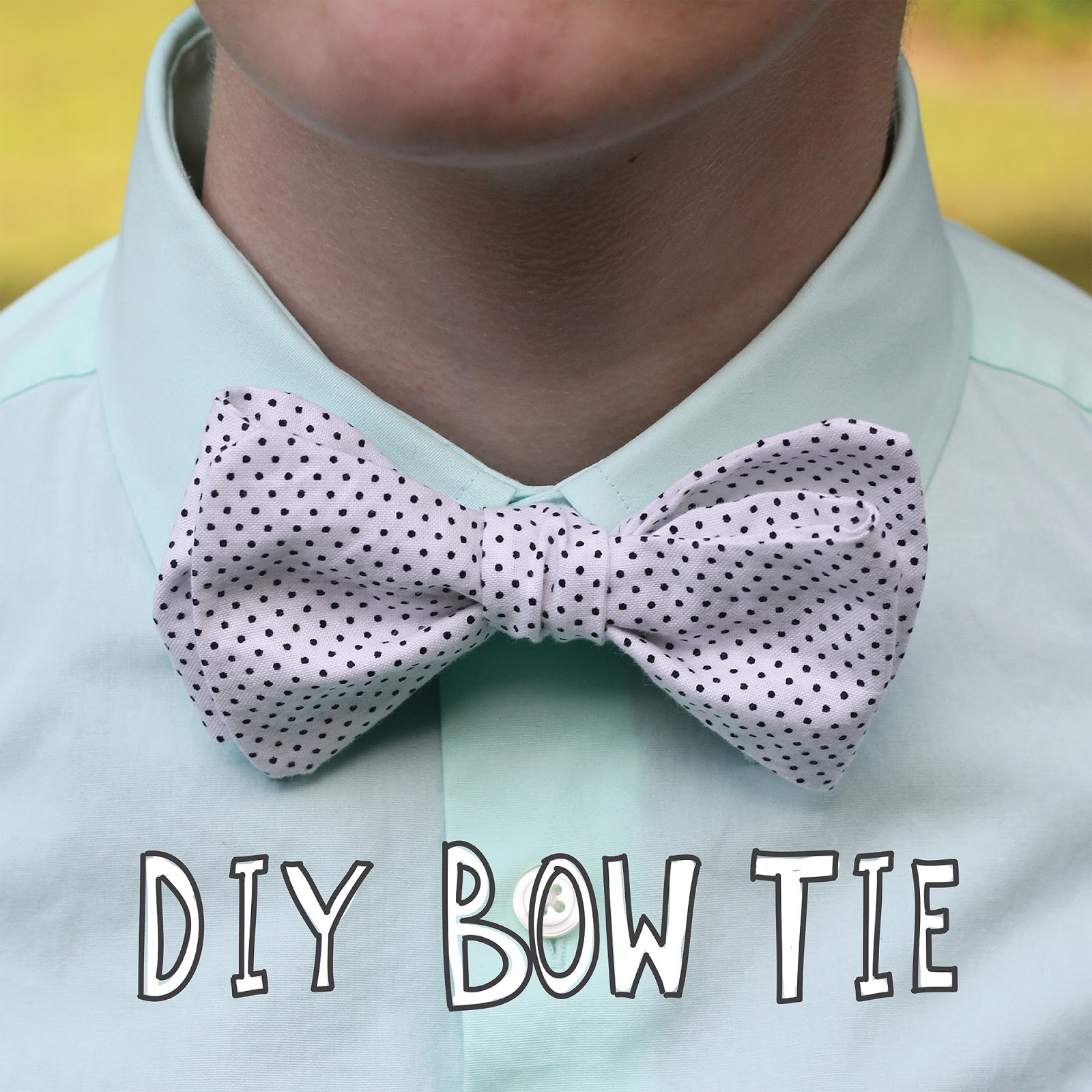 how to cut and make a bow tie