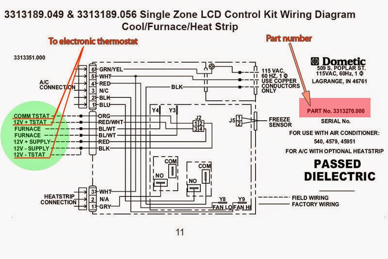diagram digital dometic t stat wiring diagram full version
