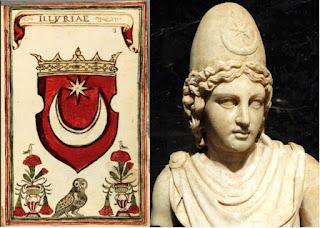 Diuscuri , i simboli illirici e la bandiera Turca - Il loro legame storico