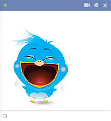 Bird icon laughing
