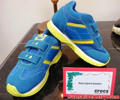 Crocs Fall / Holiday 2013 Collection, crocs shoes, crocs, comfortable stylish shoes, shoes fashion show, Crocs Retro Sprint Sneaker For Kids